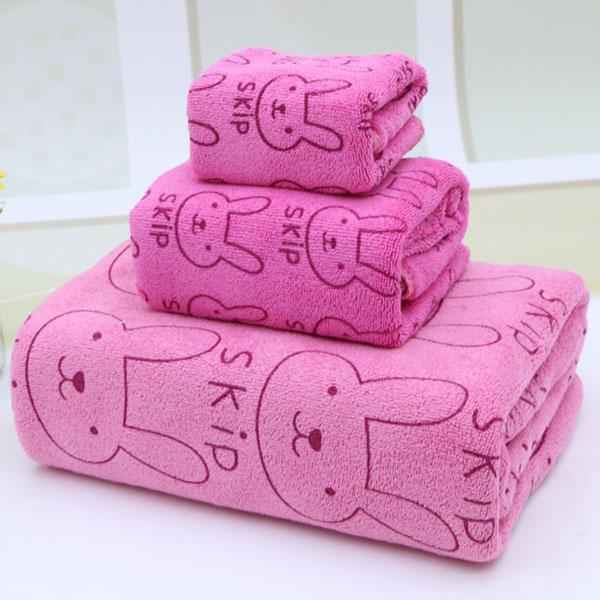 Bộ khăn tắm 3 món chất liệu vải đẹp