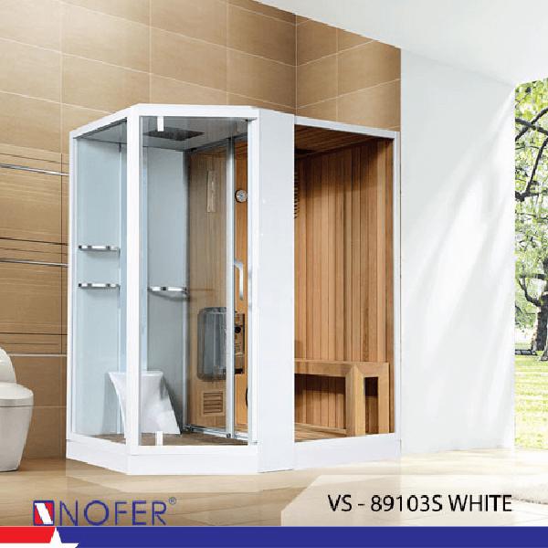 Phòng xông hơi Nofer VS-89103S White