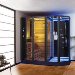 Phòng tắm hơi khô ướt kết hợp bằng tia hồng ngoại DUKE-AG0007