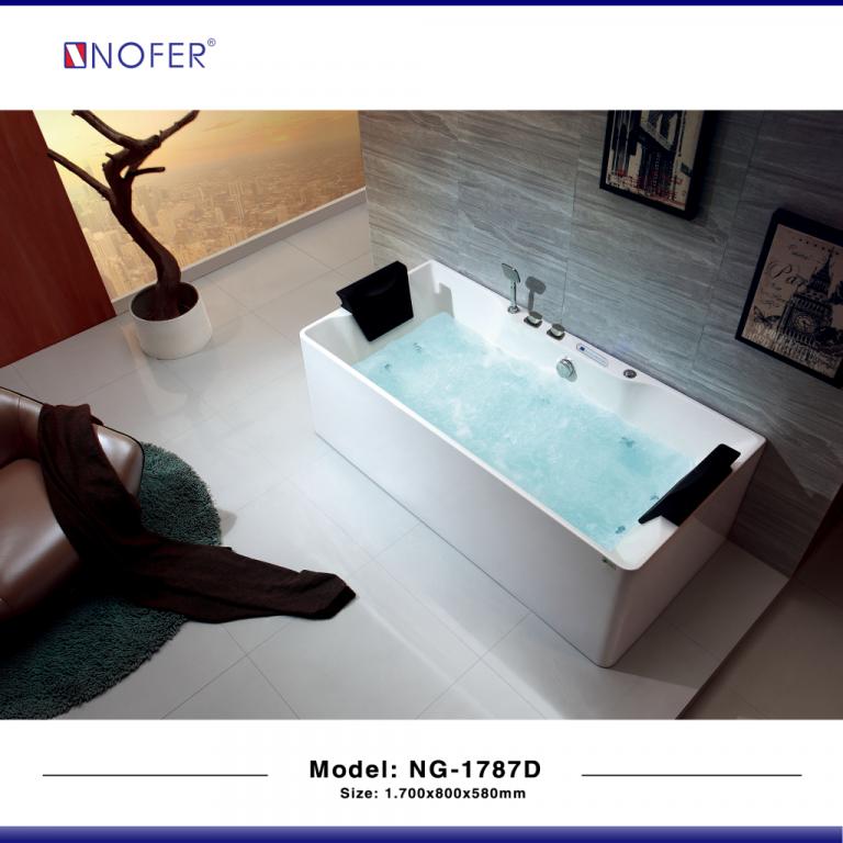 Bồn tắm nằm massage Nofer NG-1787D
