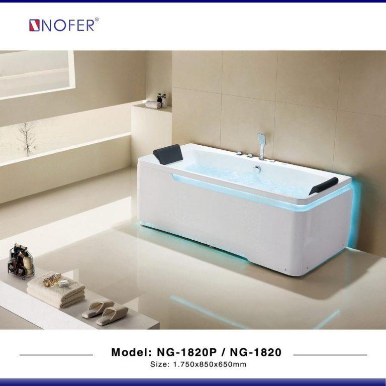 Bồn tắm nằm massage Nofer NG-1820