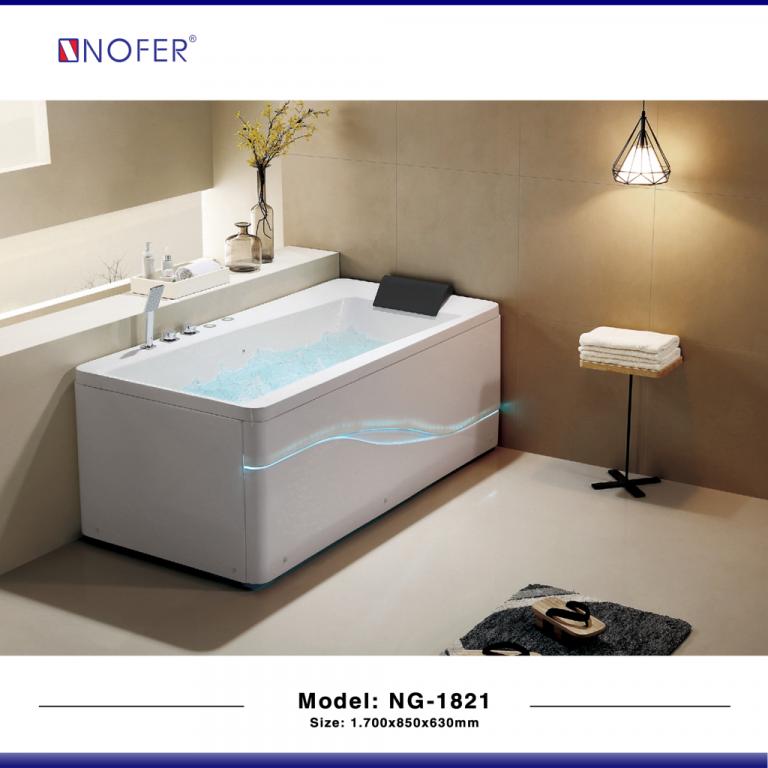 Bồn tắm nằm massage Nofer NG-1821