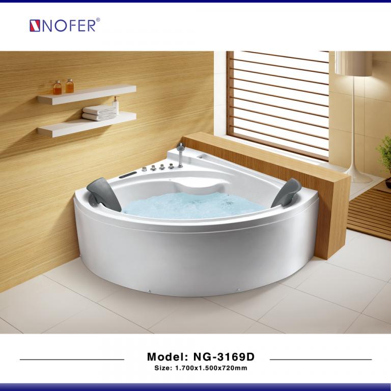 Bồn tắm góc massage Nofer NG-3169D