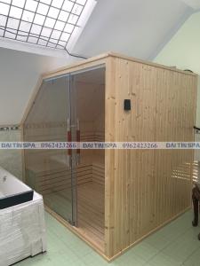 Đại Tín Spa – Hoàn thiện phòng xông hơi khô, bồn tắm massage, máy xông hơi ướt nhà Anh Tùng – Hưng Yên